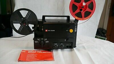 GAF 2800 Super 8 Sound Cine Projector with instructions & Spool