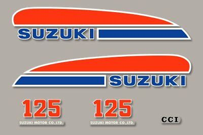 SUZUKI TS 125 grise - Kit déco Sticker decals - 1974