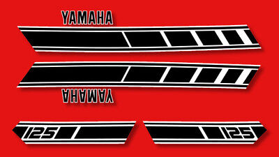 YAMAHA RD 125 - Kit carrosserie  Sticker decals - RD125 1977