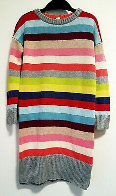 Girls Clothes Gap Jersey/Sweater Dress, Age 4-5 Yrs Multi-Colour Striped Winter