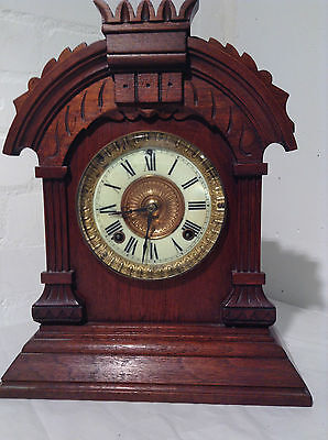 Antique Ansonia Tunis Mantle Clock c1882 -JPS