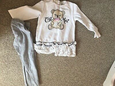 EMC Girls Jumper Top And Leggings Set Age 3. Winter Collection