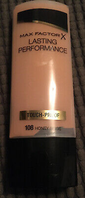 New Max Factor lasting performance touch proof foundation 108 Honey Beige