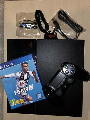 Ps4 500Gb Console + Sealed Fifa 19 + Brand New Power/Controller Charger Cables