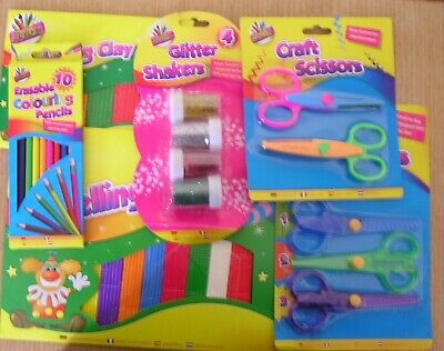 Art Box Kids Craft Scissors Colouring Activity Pencils Stickers Stocking Fillers