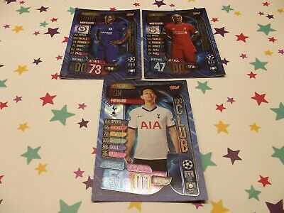Topps Match Attax 19/20,Champions & Europa League,100 Club X 3 Cards