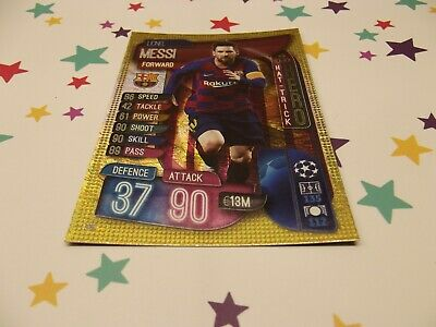 Topps Match Attax 19/20,Champions & Europa League, Hat-Trick Hero,Lionel Messi 3