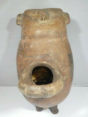 Important Pre Columbian  Pottery Vessel Possibly Mayan Pre Christ
