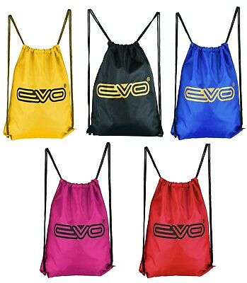 EVO Drawstring Gym sack Bag Sports School Swim Kit PE Travel Backpack college