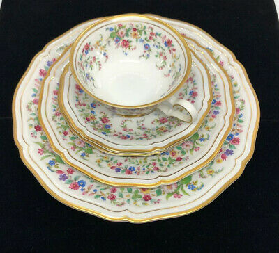 Vintage Rosenthal Chippendale Bahnhof Seib Germany 84 p. Floral Gold Trim China