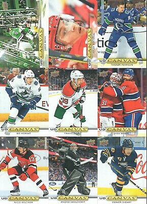 2019 - 20 Upper Deck Series 1 UD Canvas U-Pick From List