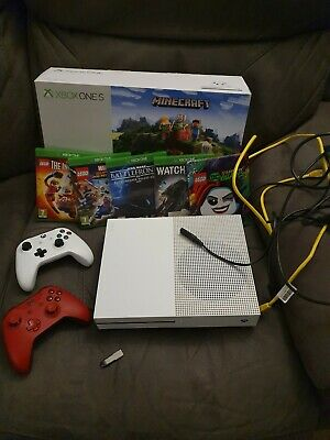 Xbox one s minecraft console with 5 games