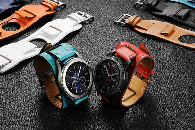 US Silicone Luxury Leather Watch Band Cuff Bracelet Watch For Samsung Gear S3 xi