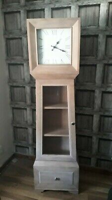 Grandmother clock with shelving and drawer brand new from Next cost £325