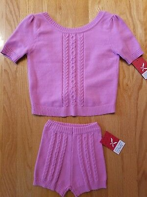 NEW Dance Girls Pink Knit Top & Short Set Medium Child, Great Quality, GIFT!