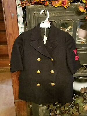 Vintage Child Military Jacket - Nice Military Buttons down front and sleeves