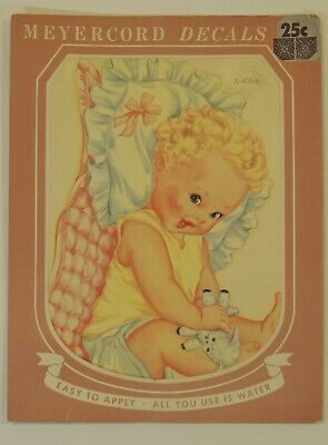 VTG Meyercord Wall Decals Transfer Decorations Nursery Baby Girl Home 401-A