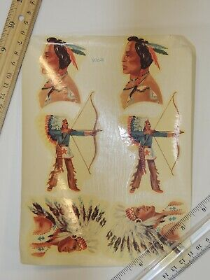 VTG Meyercord Wall Decals Transfer Decorations Native American Indian 906-B