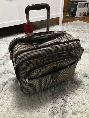 london fog Brown Houndstooth Carry On