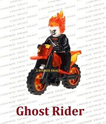 Ghost Rider Ghostrider & Motorcycle Set Fits LEGO Marvel USA Seller MINI FIGURE