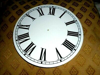 "Round Paper (Card) Clock Dial - 8 1/2"" M/T - Roman - MATT WHITE - Parts/Spares"