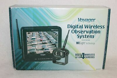 build-in microphone Voyager WVOS541 four Camera Enabled Digital Wireless Observation System with 5.6 color LCD monitor 960 x 234 Resolution connect up to 4 wireless cameras and 1 wired camera