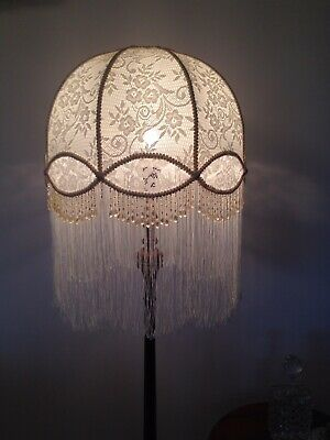 Stunning New Hand Crafted Lace  Shade For Floor Lamp
