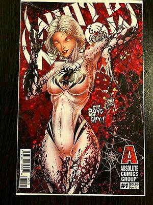 White Widow #1 - Jamie Tyndall Red Foil Variant ABSOLUTE Comics NM+