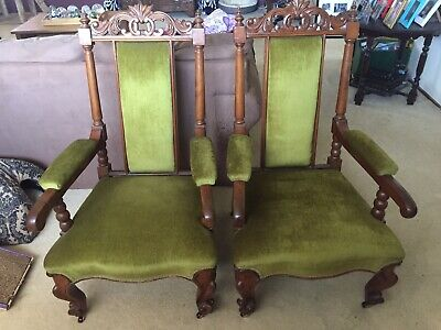 Antique Late Victorian Edwardian Chairs