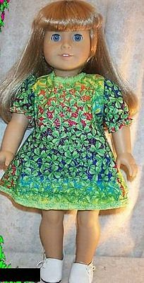 "Doll Clothes Made 2 Fit American Girl 18/"" in Dress Shamrock Green Sparkles"