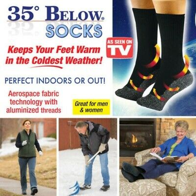 1Pair 35 Below Socks Keep Our Feet Warm and Dry Seen On TV- Aluminized Fiber US.