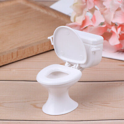 Dollhouse Furniture Vintage Bathroom Toilet Miniature Toys Dolls Accessor Uh