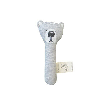NEW Mister Fly Hand Held Bear Rattle Children Baby