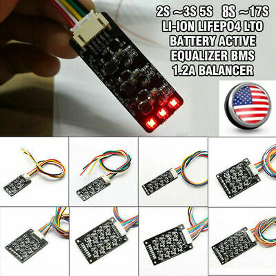 Li-ion Lifepo4 LFP Battery Active Equalizer BMS 1.2A Balance 3S 4S 6S 7S 13S 17S