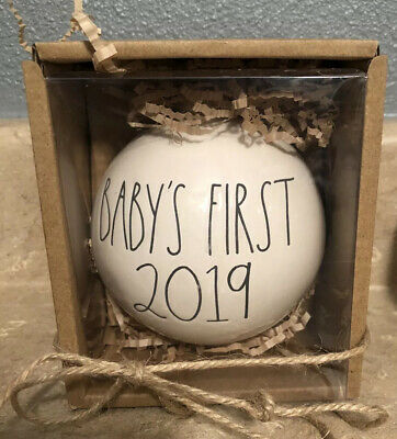 NEW Rae Dunn BABY'S FIRST 2019 Christmas Holiday ORNAMENT by Magenta Baby
