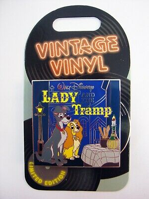 DISNEY Parks Pin of the Month VINTAGE VINYL LADY and the TRAMP LE 3000