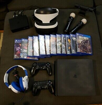 PS4 console & VR bundle PLUS GAMES, CONTROLLERS & MORE!!! MUST SEE!!!