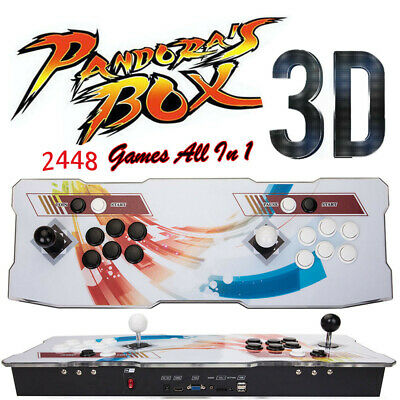 Upgraded 3D Pandora Box 9 Games 2448 in 1 Retro Arcade Console Double 138 Game #