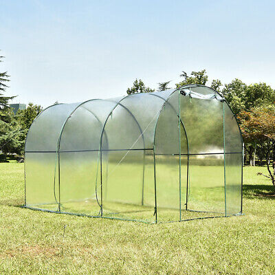 Walk-in Greenhouse Polly Tunnel Patio Garden Outdoor Polytunnel Steel Frame UV