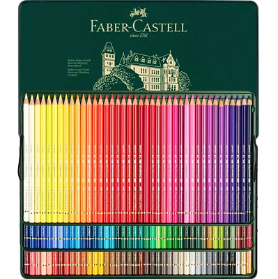NEW IN TIN CASE 120x Faber-Castell Polychromos Artist Colour Colouring Pencils