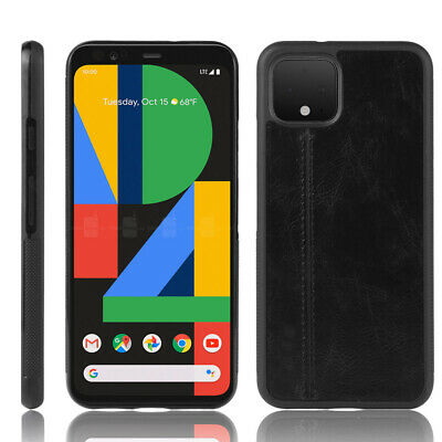 Retro Slim PU Leather Rubber Shockproof Bumper Case Cover For Google Pixel 4 XL