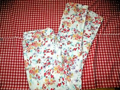Wonder Nation ❤ Flowery Super Soft Stretchy Leggings girls sz XL 14/16