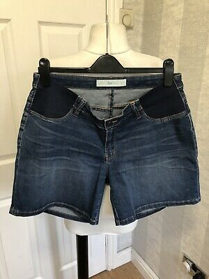 (144) Ripe Maternity Denim Shorts UK Size 14