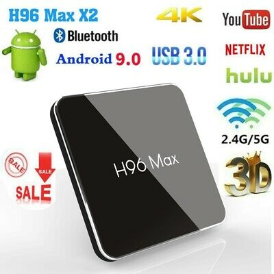 H96 MAX X2 Android 9.0 Smart TV BOX Quad Core 4K 5G Media HDMI Wifi Bluetooth 3D