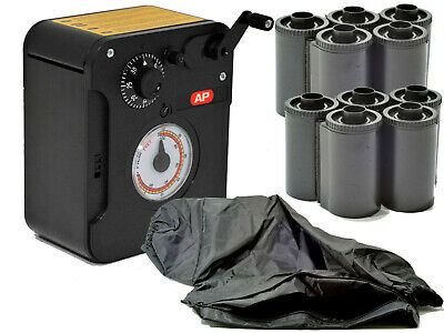 Bulk Film Loader Kit With Changing Bag & 10 Plastic Re-loadable Cassettes
