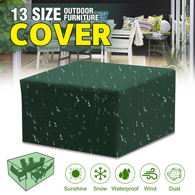 Large Outdoor Cover Garden Furniture Waterproof Patio Rattan Table Cube Set