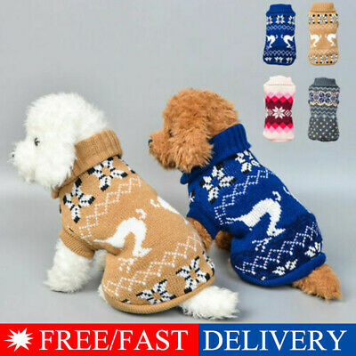 Pet Cat Dog Knitted Jumpsuit Warm Winter Sweater Coat Puppy Vest Jacket Cloth sm