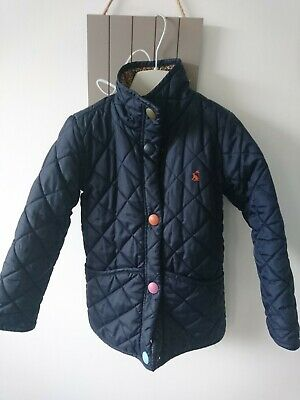 Joules girl quilted jacket coat 5 years VGC