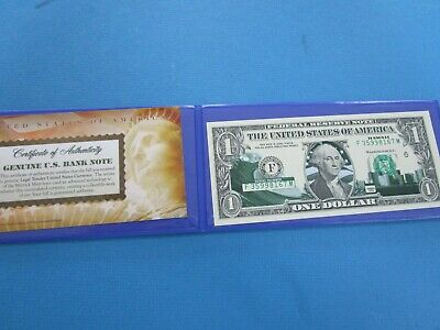 USA Colorized Green ONE  Dollar Collectors Note ' HAWAII Unc