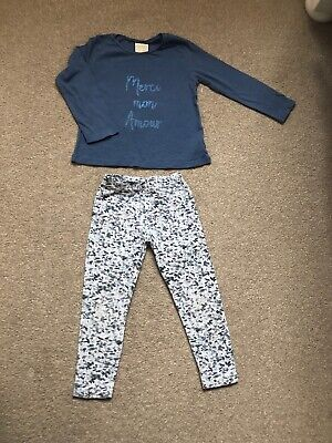 Zara Baby Girls Outfit- Top & Leggings Size 2-3 Years